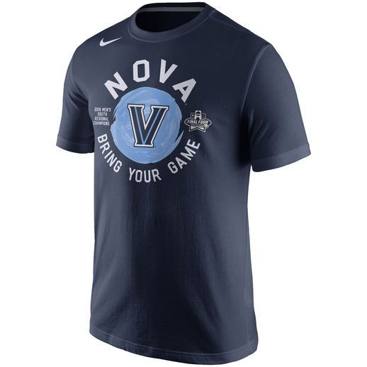 Nike Villanova Wildcats Navy 2016 NCAA Men's Basketball Tournament Final  Four Bound Locker Room T-
