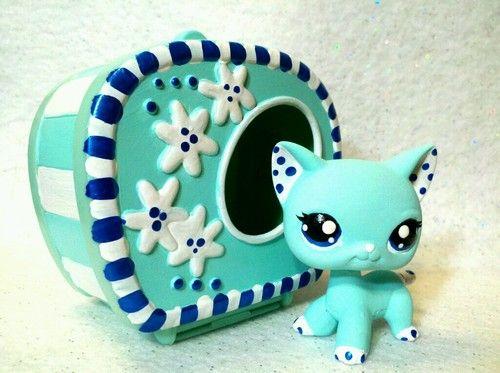 Snow Cat Lot OOAK Custom Littlest Pet Shop   eBay $30.00