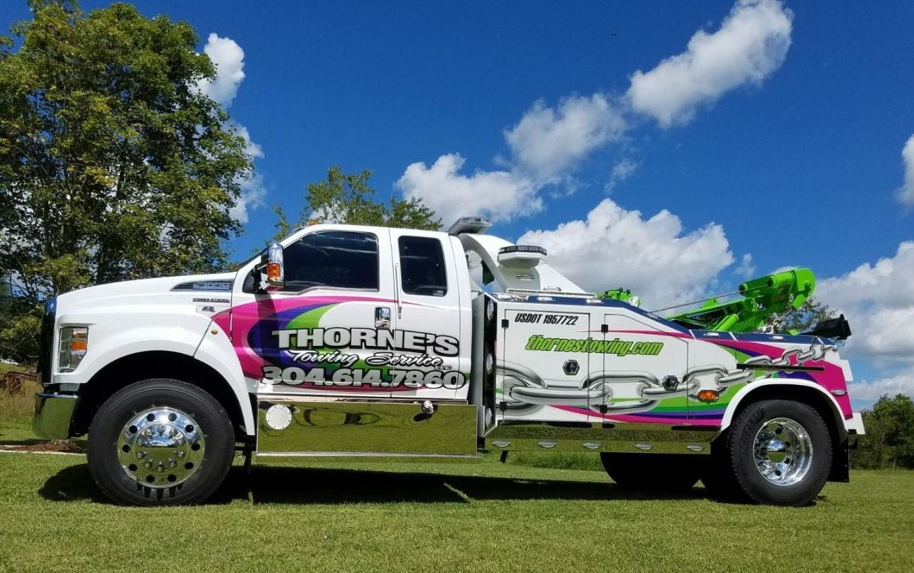 Thorne S Towing Philippi Wv Ford F750 W B B 16 Ton Unit Tow Truck Towing Trucks