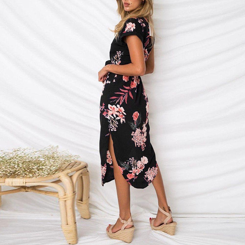 Multitrust Multitrust Women Short Sleeve Wrap Boho Floral Maxi Dress Ladies Summer Sundress Holiday Walmart Com Boho Summer Dresses Printed Beach Dresses Boho Floral Maxi Dress [ 1001 x 1001 Pixel ]