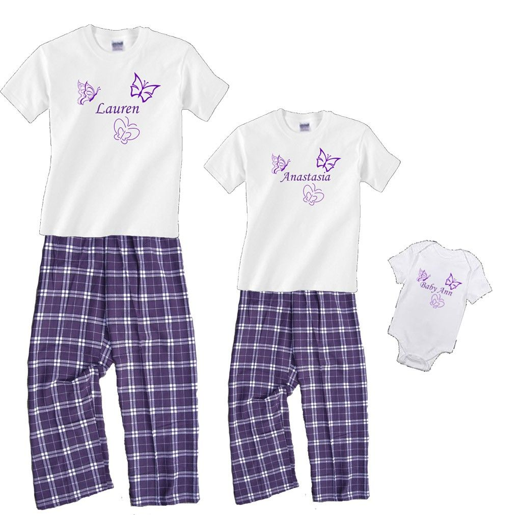 personalized butterfly pajamas Shirt pant set, Mother