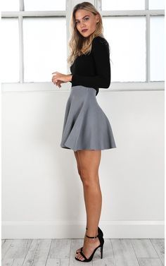 Real Deal Skirt In Grey | Showpo