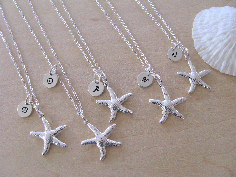 Starfish Bridesmaid Necklaces Beach Wedding Jewelry Etsy Beach Wedding Jewelry Custom Bridesmaid Jewelry Bridesmaid Jewelry
