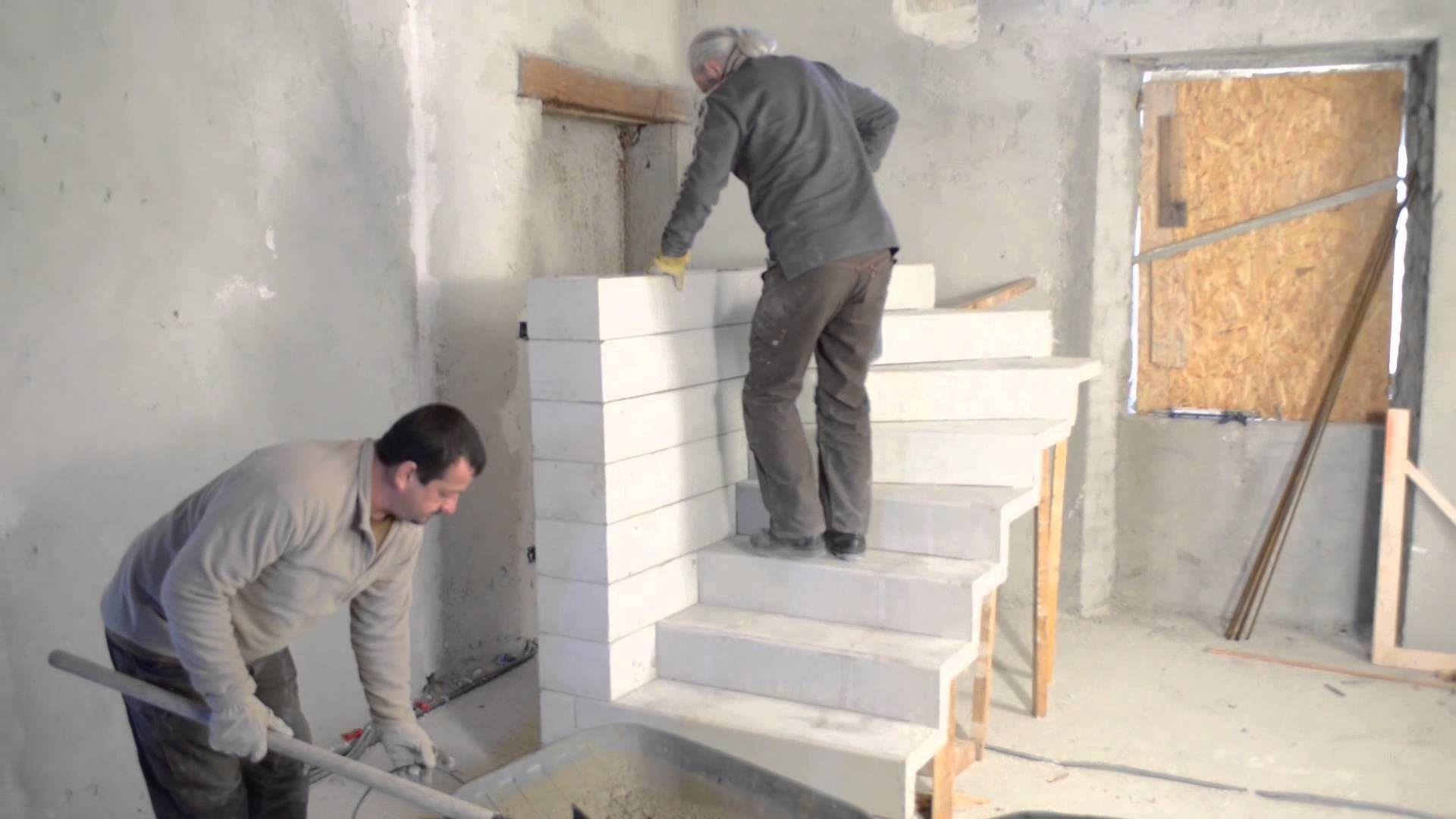 Monter Un Escalier Beton Double Quart Tournant En Kit Tuto Brico