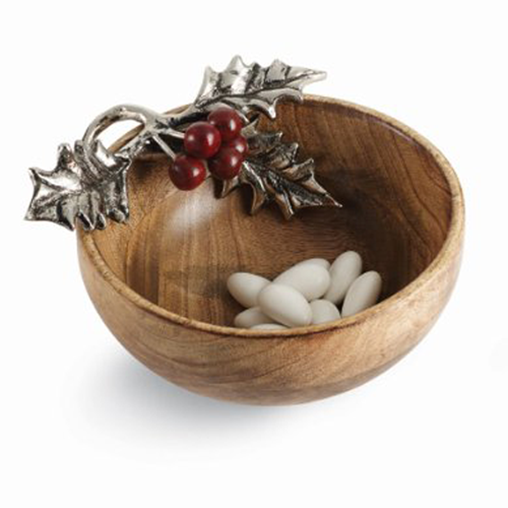 MudPie~ Mango Wood Holly Dip Cup/Nut Bowl – LilLambs Boutique