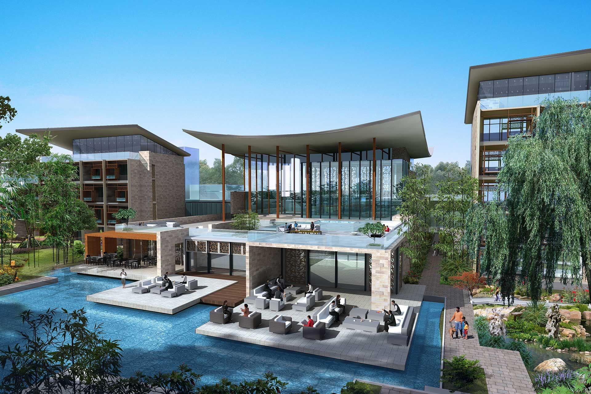 Four Seasons Resort Suzhou Architects Hotel Facade Architect Resort [ 1280 x 1920 Pixel ]