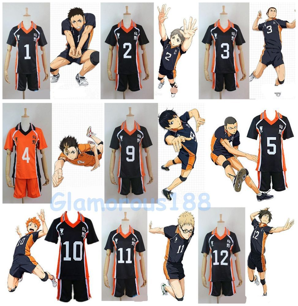 Haikyuu Karasuno High School Uniform Jersey Karasuno Volleyball Cosplay Costume Fanmadegoods Uniform Haikyuu Cosplay Cosplay Costumes