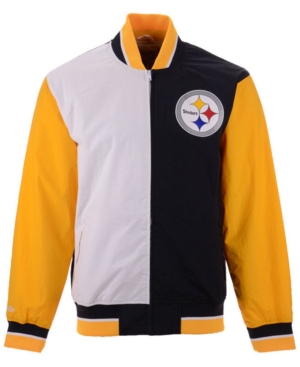 d1c43299e76 Mitchell & Ness Men's Pittsburgh Steelers Team History Warm Up Jacket 2 -  Black XXL