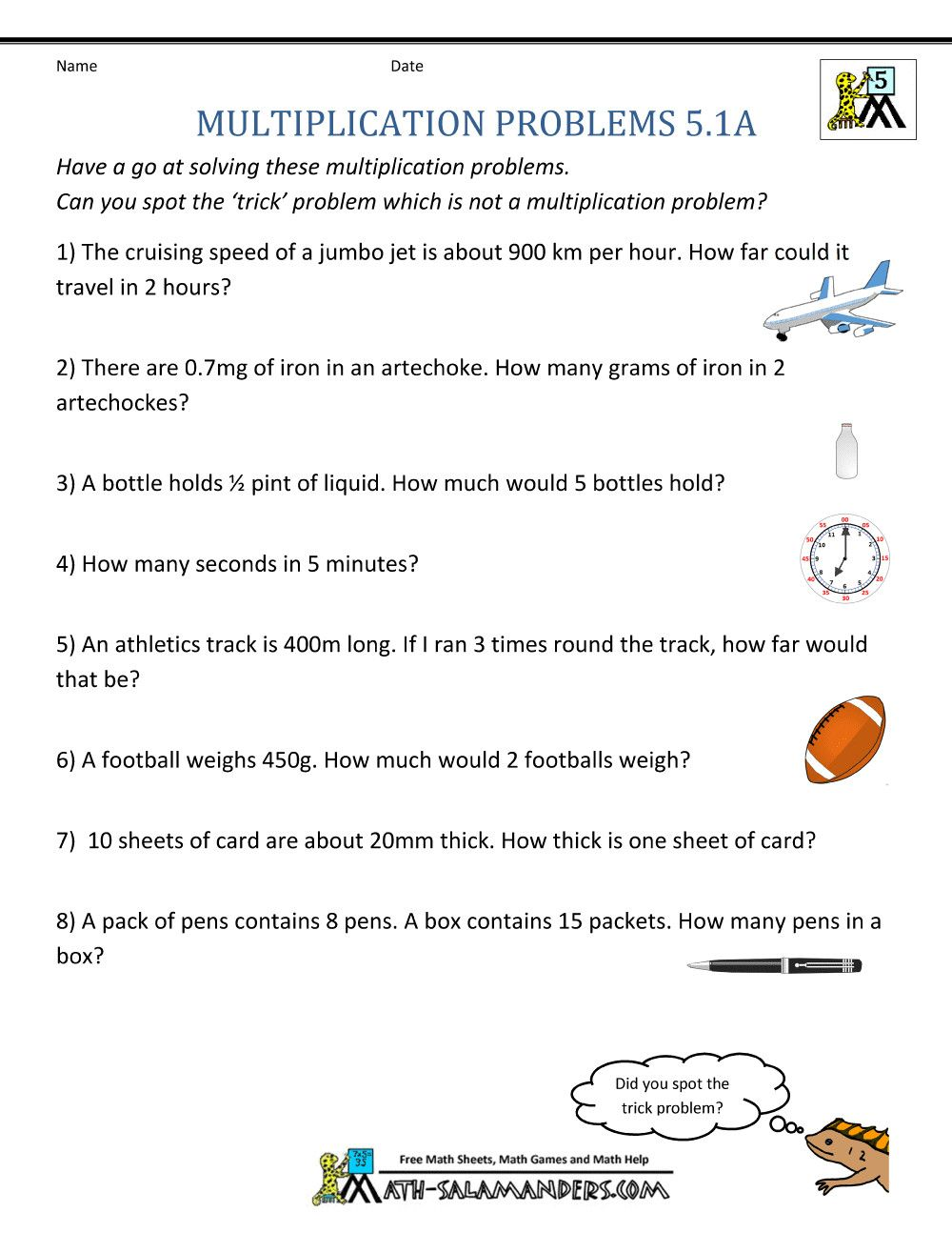 5th Grade Math Worksheets Printable In 2021 Multiplication Word Problems Math Word Problems Word Problem Worksheets [ 1294 x 1000 Pixel ]