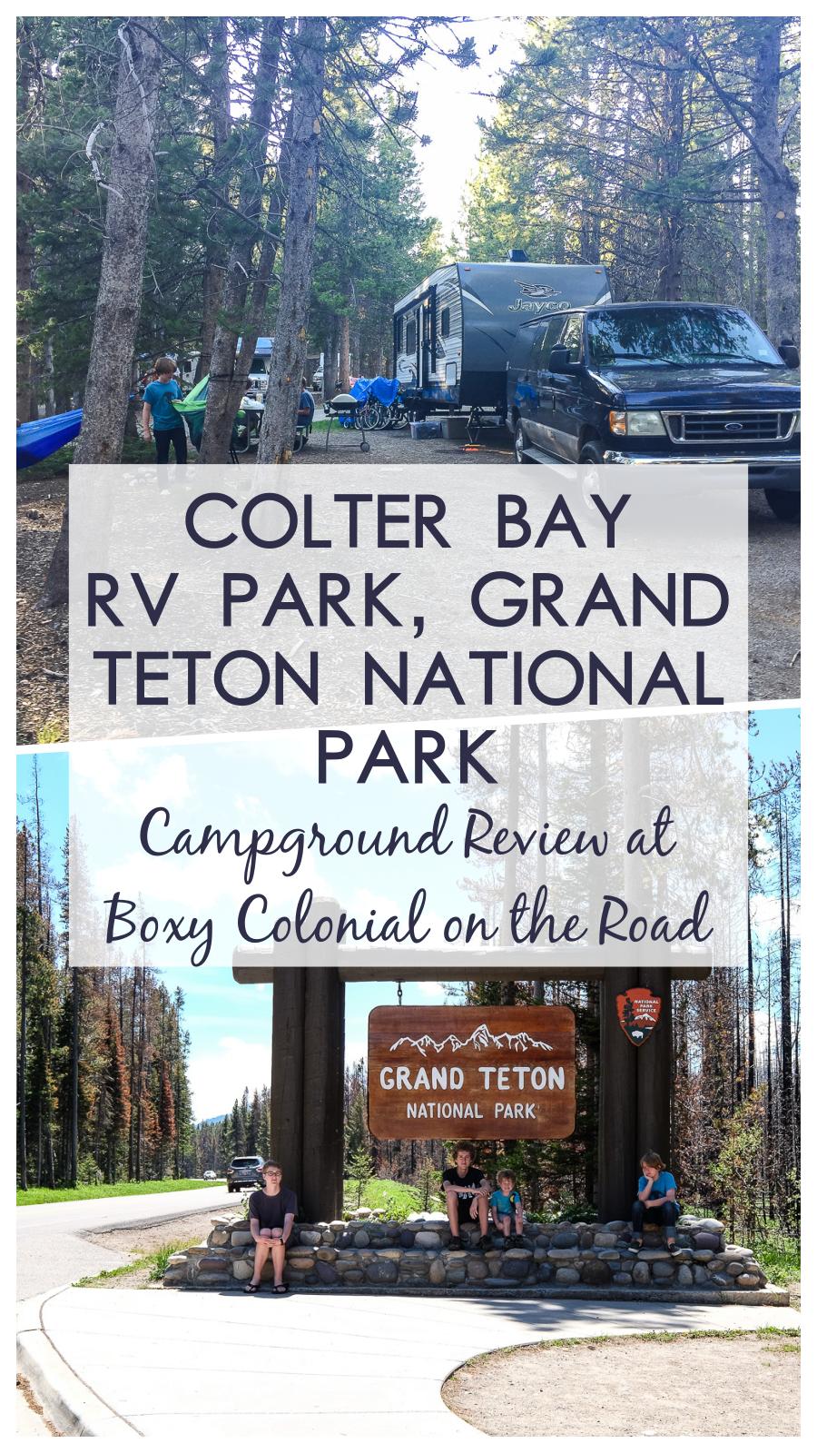 Colter Bay RV Park in Grand Teton National Park