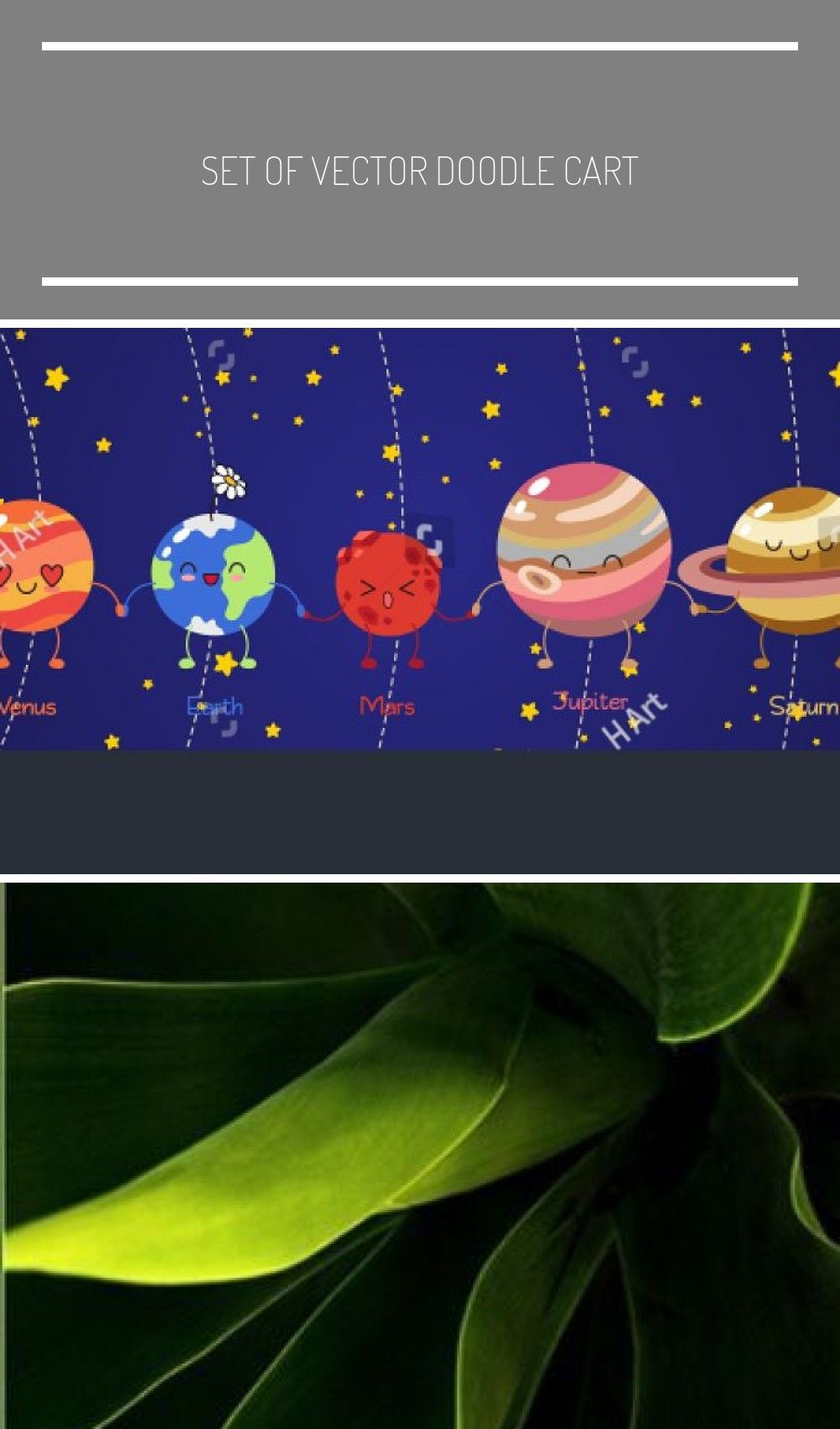 Set of vector doodle cartoon icons planets of solar system Comic colored funny characters Children s education Wallpaper background symbols template for web design greeti...