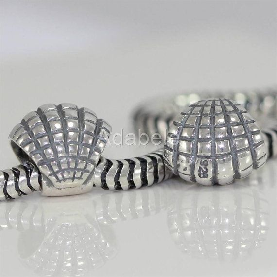 de81b207d 1pc Sterling Silver Charm Sea Shell Bead Ocean Lover Charm for European  Charm Bracelets EC224