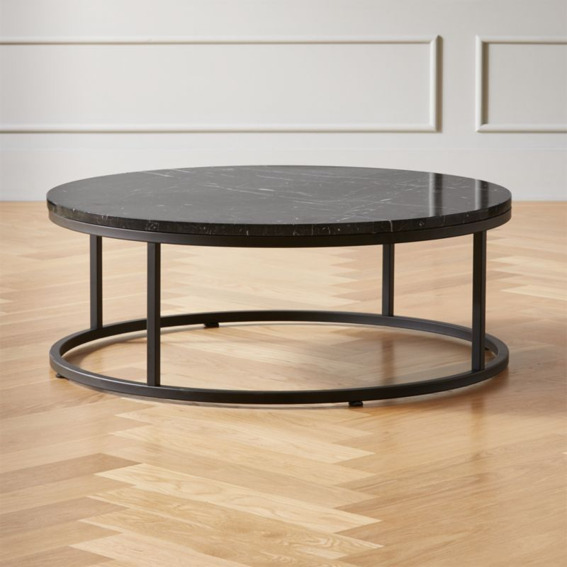Smart Round Black Marble Coffee Table Reviews Black Marble Coffee Table Black Coffee Tables Coffee Table