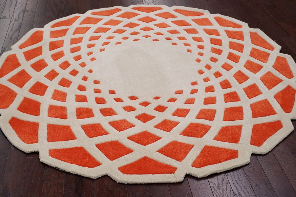 Keno Crystal Orange Rug | Contemporary Rugs Photo