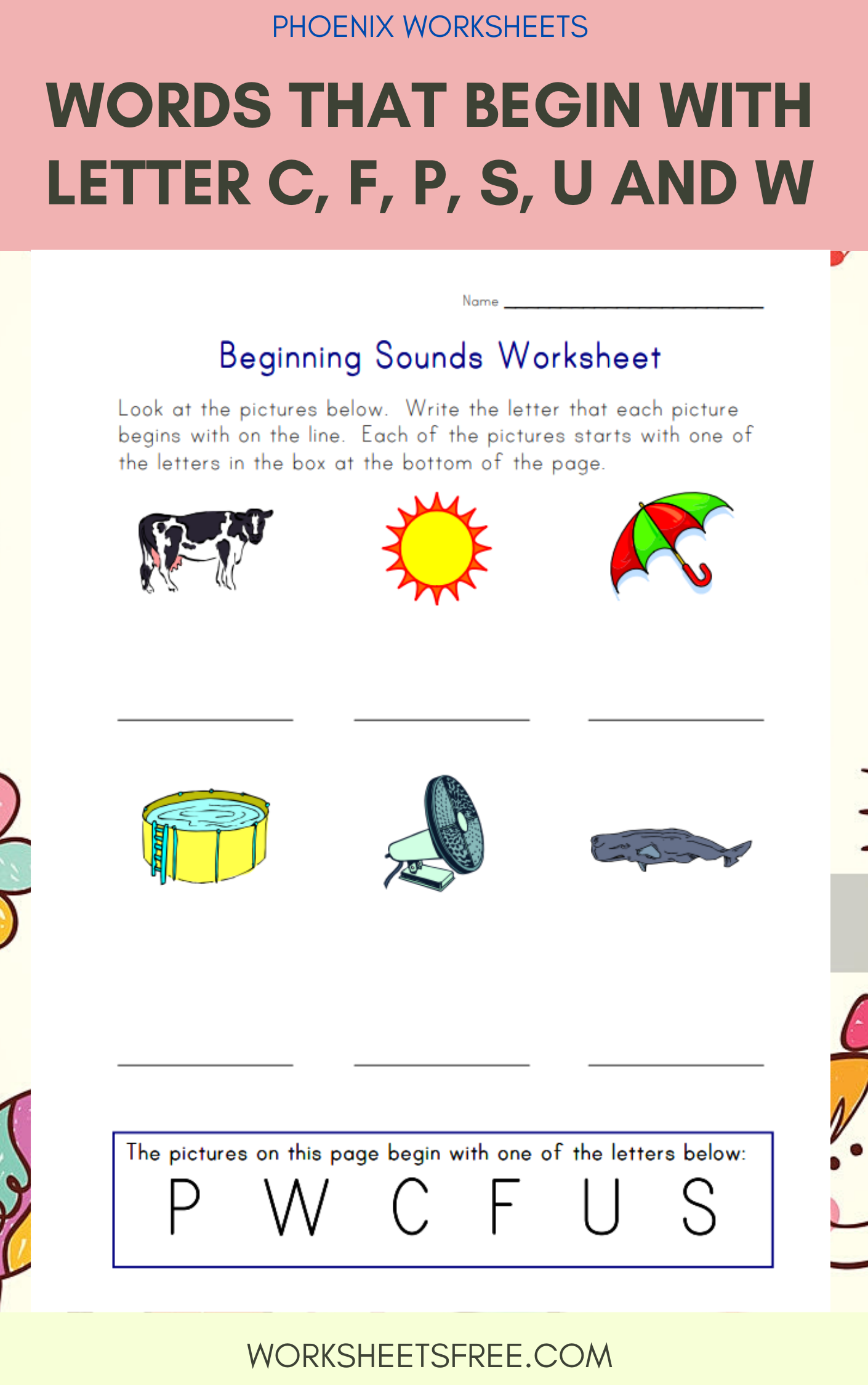 7 Beginning Sounds Worksheets In With Images