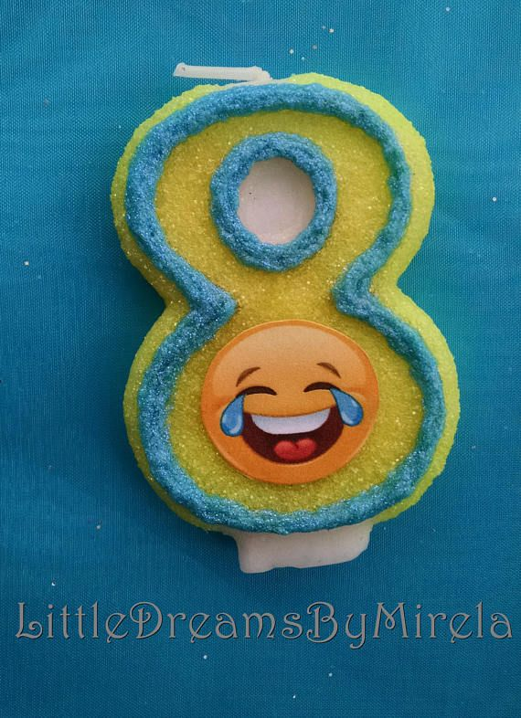 Double Digit Emoji Birthday Candle Any Number Heart