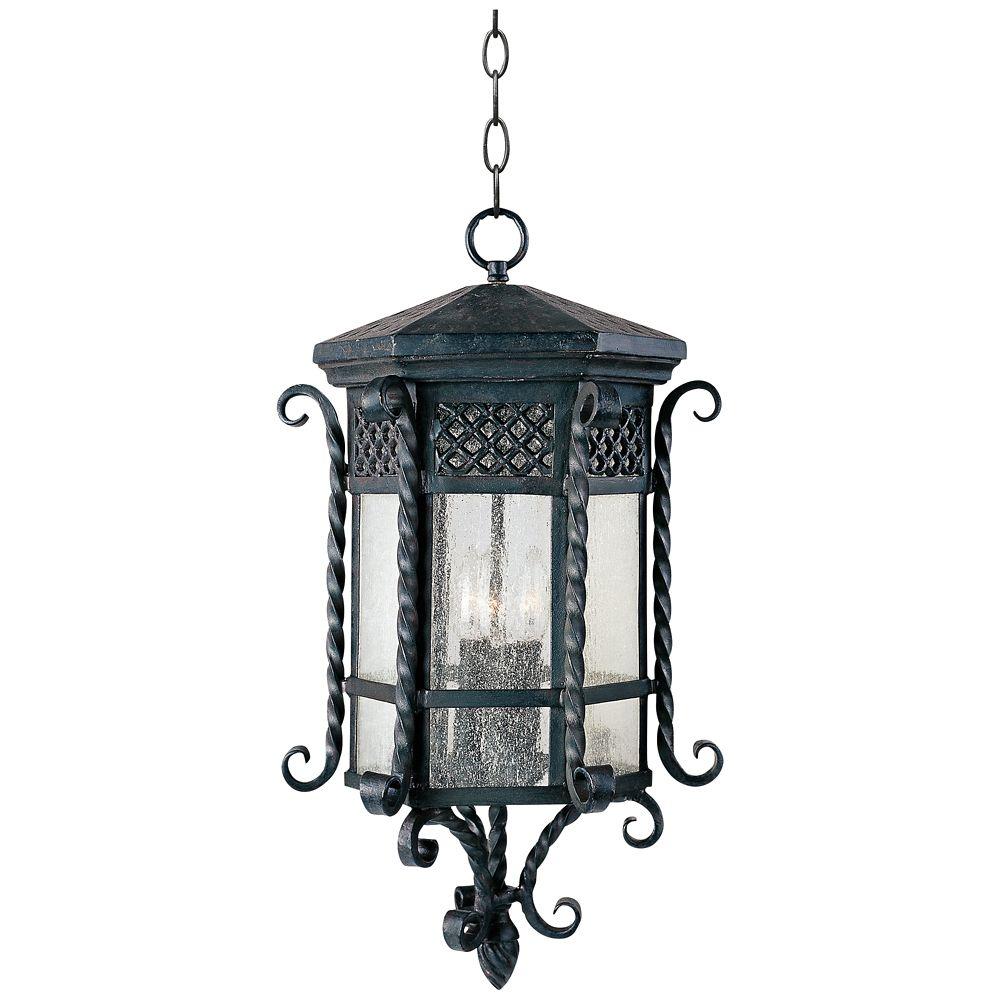Maxim Scottsdale 24 High Black Outdoor Hanging Light Style