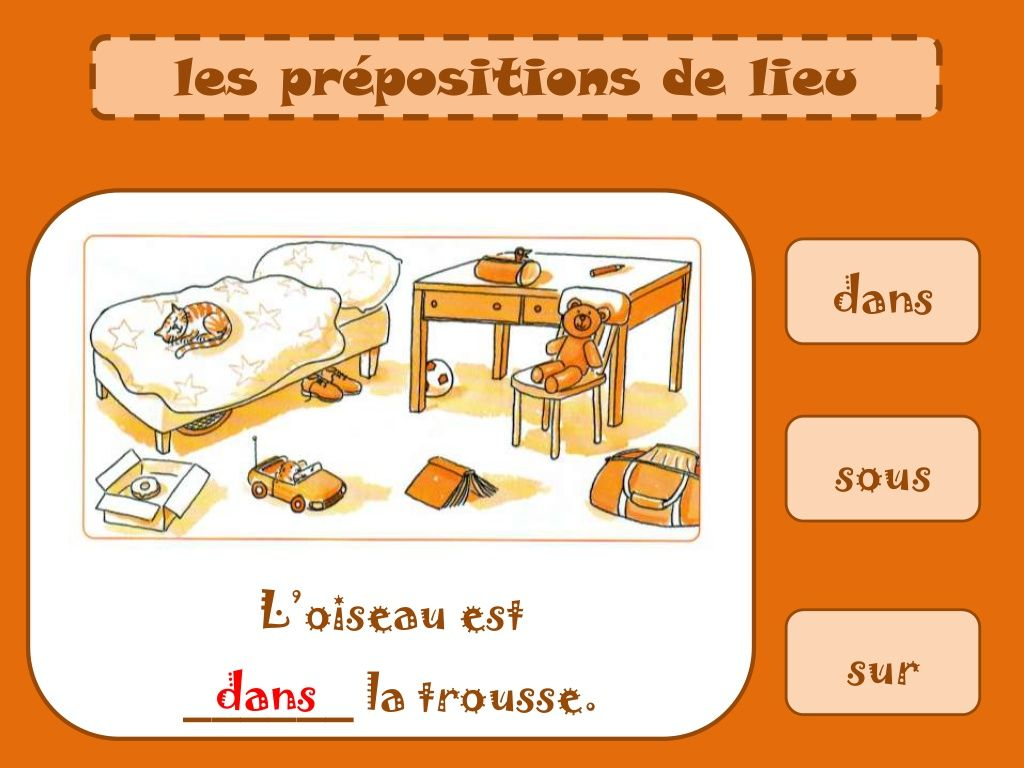 Prepositions De Lieu 2 By Pakyrata Via Slideshare