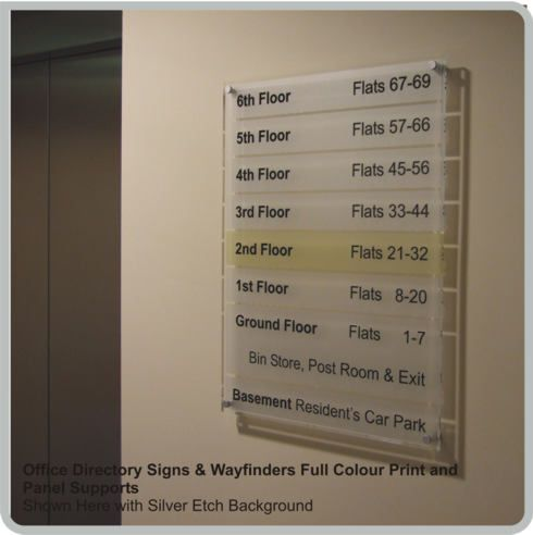 Acrylic Office Directory Signs Lobby Signs Custom Made Building Directory Signage By De Signage