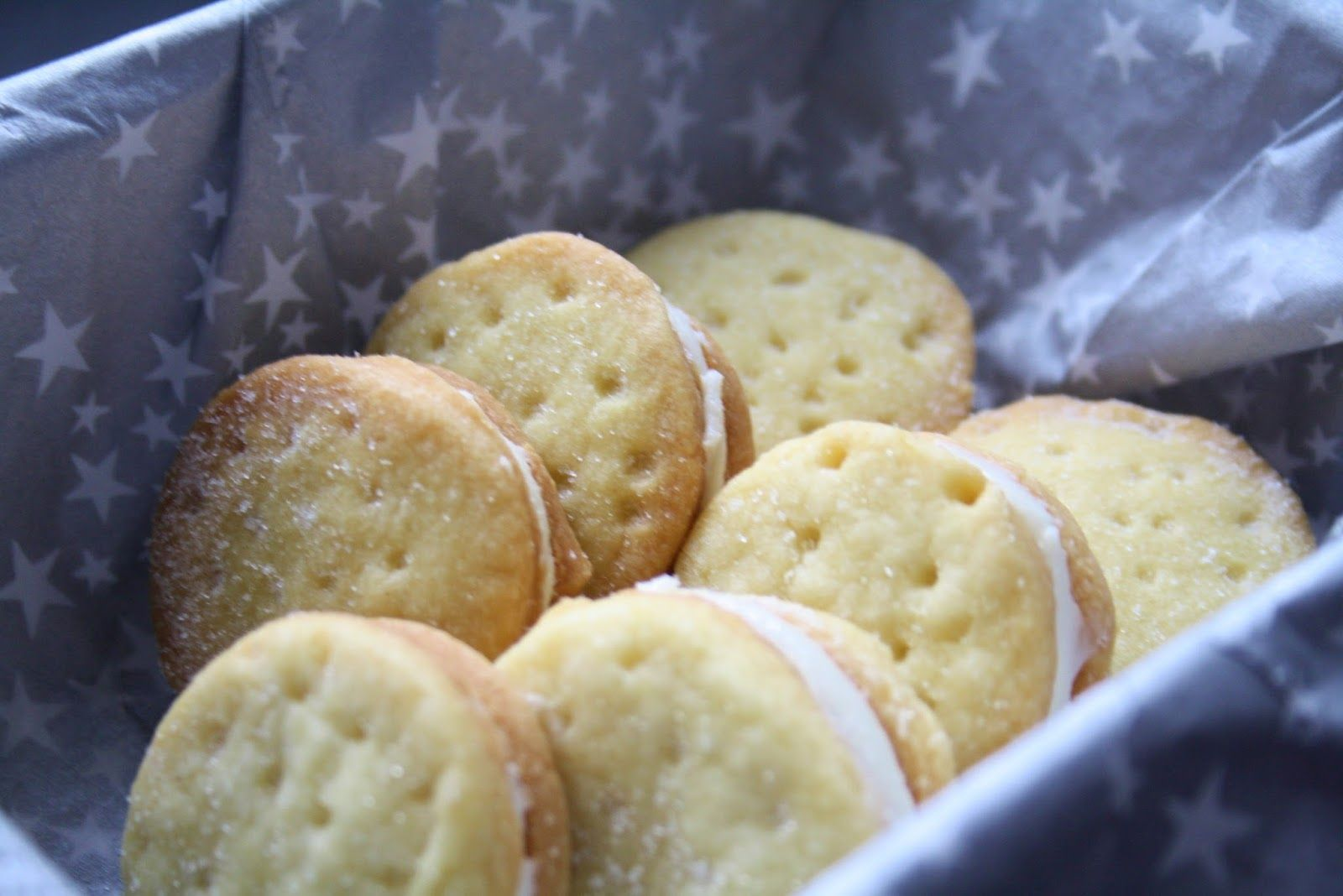 STYLE, SPACE & STUFF Short bread biscuit with butter icing filling.