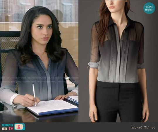 rachel s ombre blouse on suits meghan markle suits fashion tv rachel zane outfits meghan markle suits