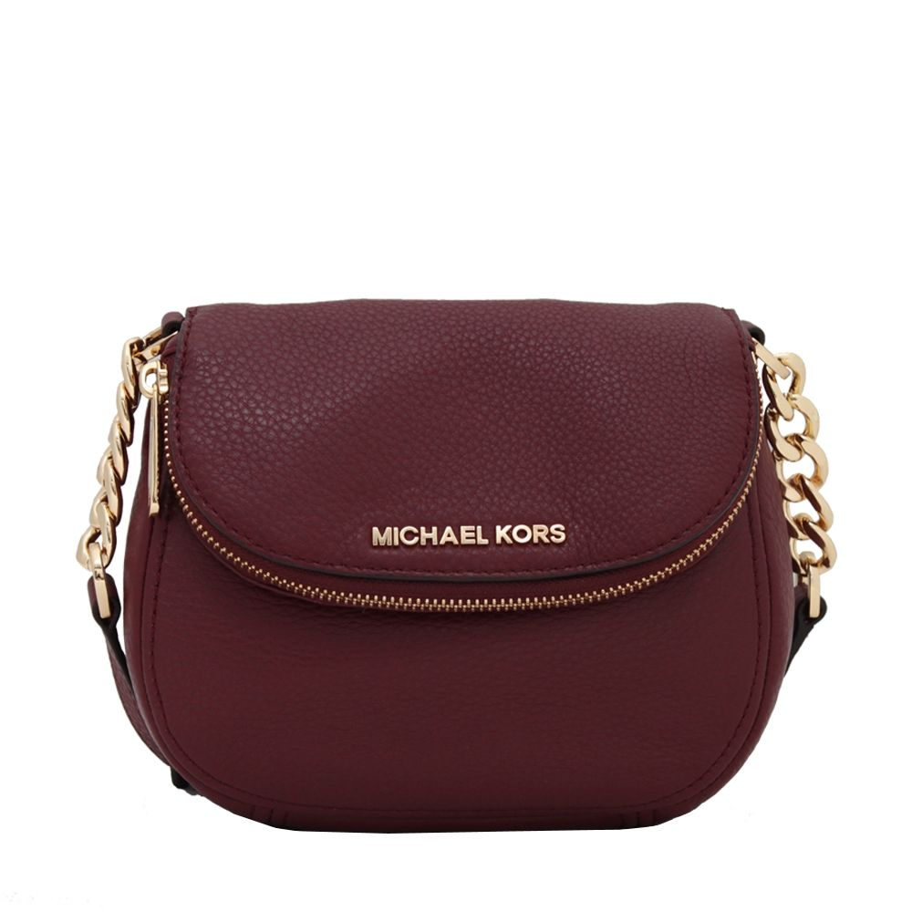 Michael Kors Bedford Leather Flap Crossbody Bag | Pink Orchard - Luxury  Brands Online