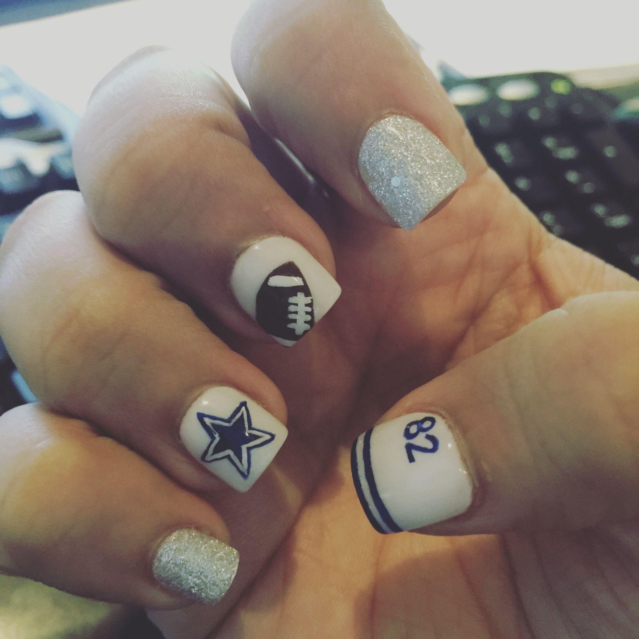 Dallas Cowboys Nails | My nails | Pinterest | Dallas cowboys nails ...