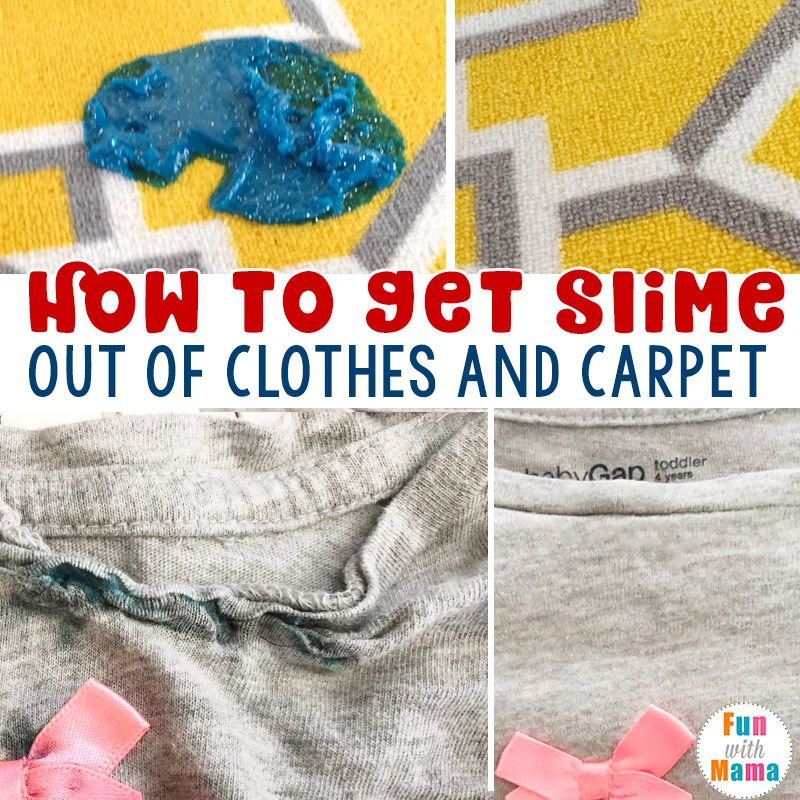 How to get slime out of clothes and carpet stain remover