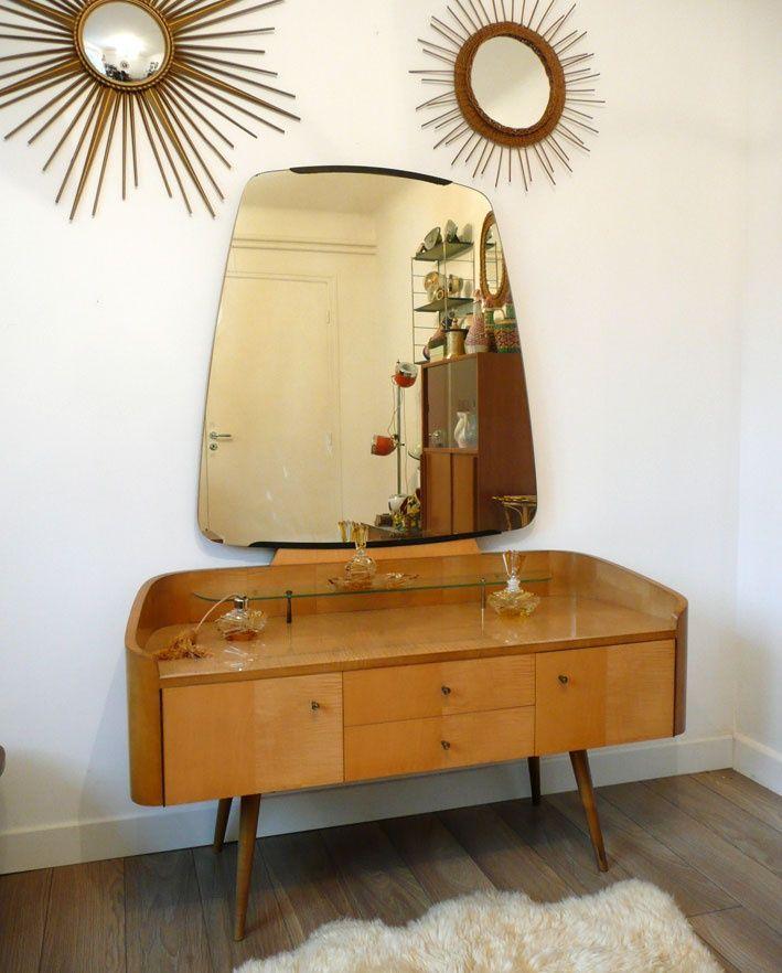 coiffeuse ann es 60 v i n t a g e pinterest mobilier de salon ann es 60 et meuble vintage. Black Bedroom Furniture Sets. Home Design Ideas