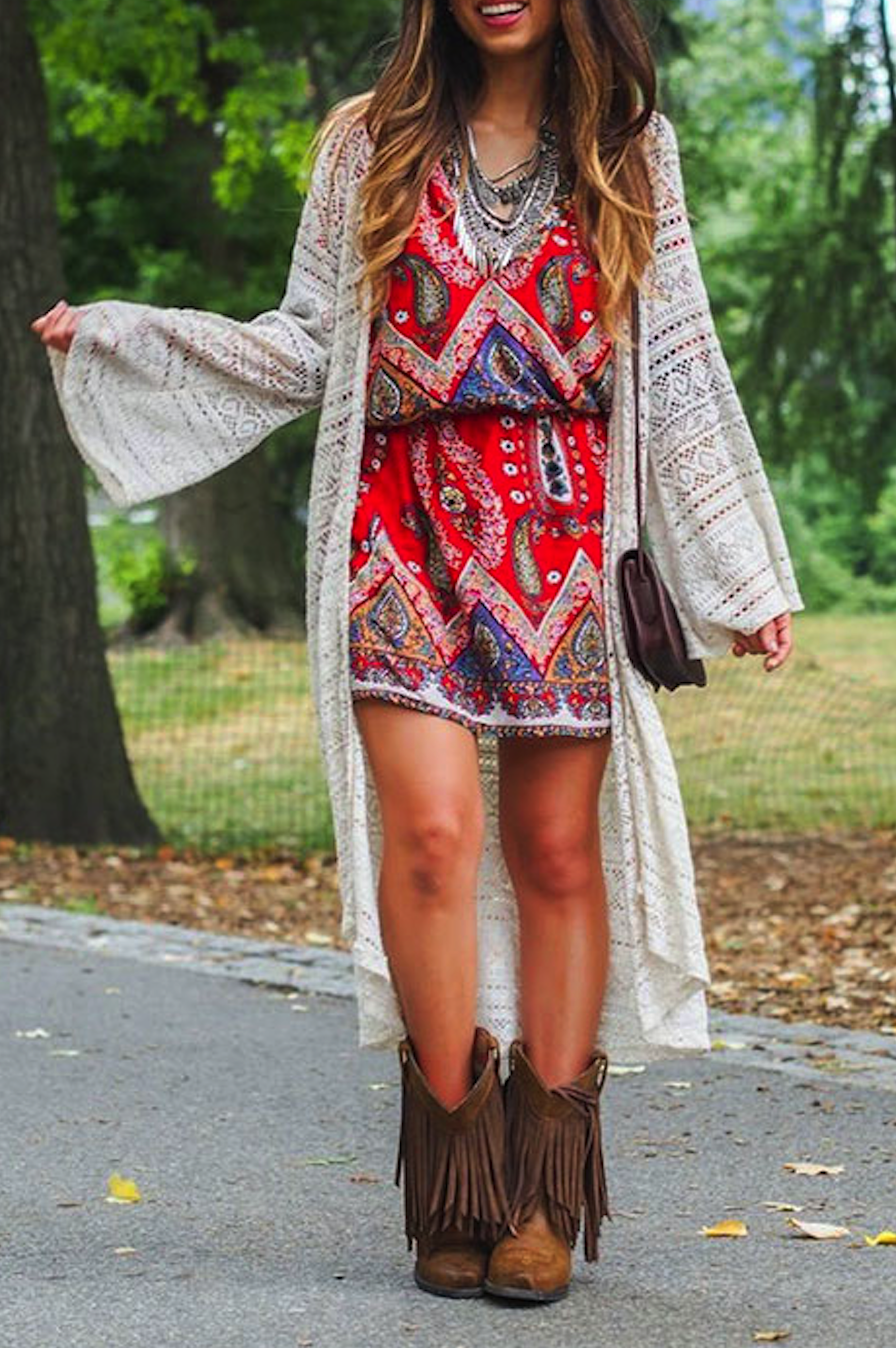 **** Stitch Fix Spring Summer 2017 inspiration!  Love this adorable boho vibe of this outfit paired with fringe boots and amazing long cardi.  Such a great look!!  Try Stitch Fix today to receive styles just like these.  Simply click the picture, fill out