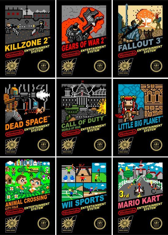 Modern games remained as retro NES have cartridges