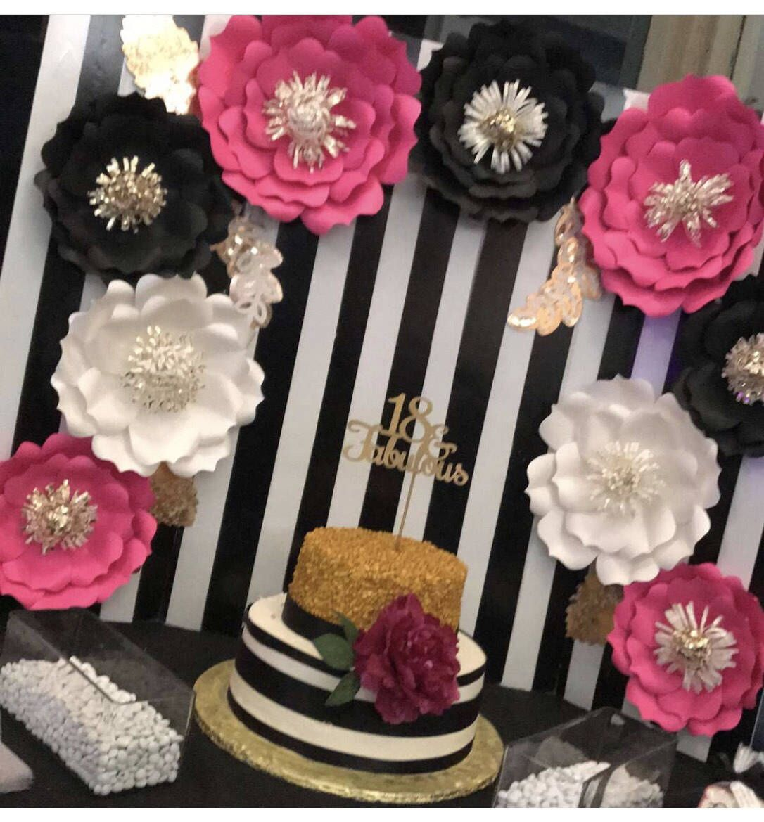 Elegant Kate Spade Inspired Paper Flower Backdrop, Giant