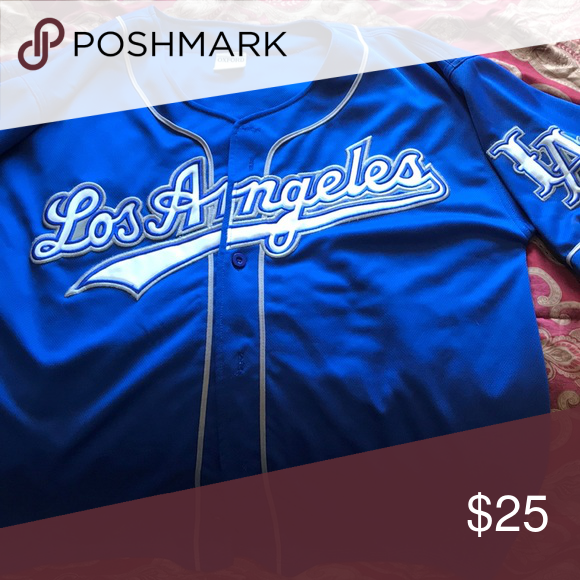 newest collection 66047 9d680 Los Angeles Dodgers jersey LA Dodgers blue away jersey ...