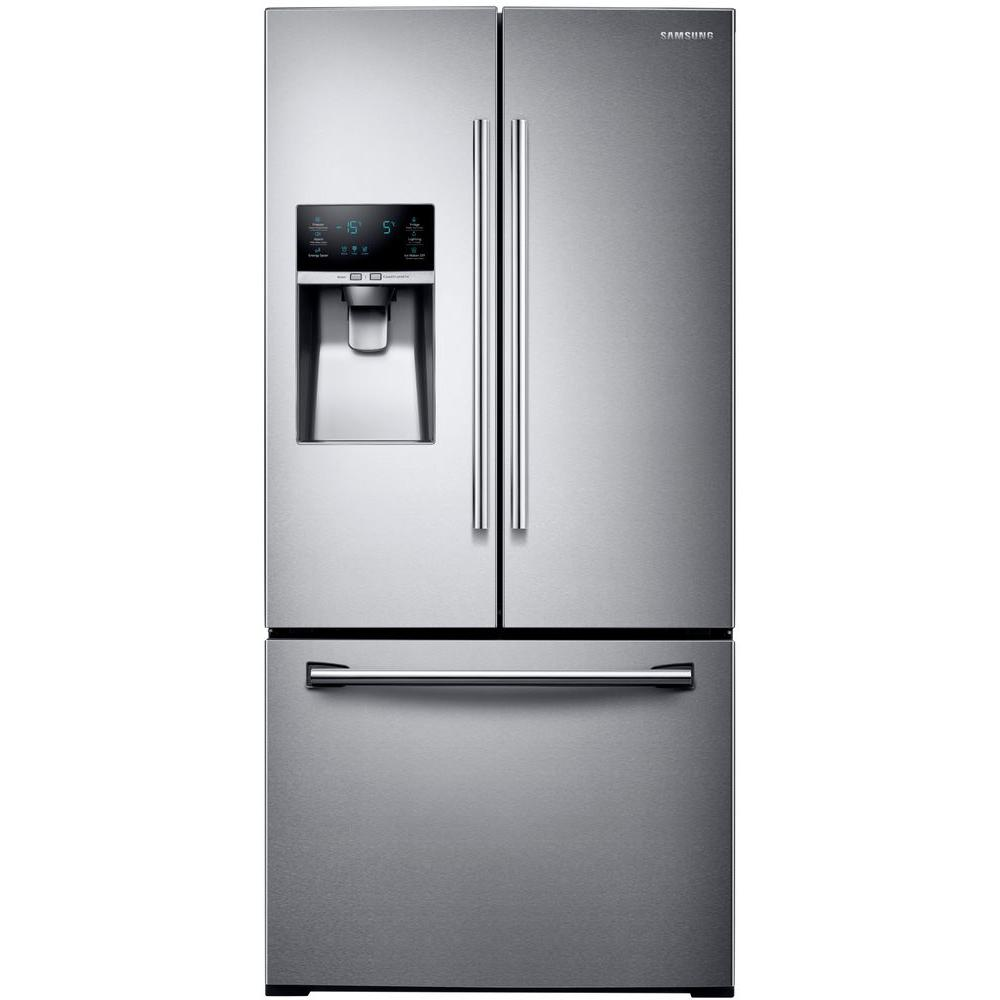 Samsung 33 In W 25 5 Cu Ft French Door Refrigerator In