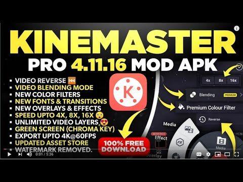 How To Download Kinemaster Pro Free Apk Kinemaster Free Download Chroma Key Greenscreen Premium Colors