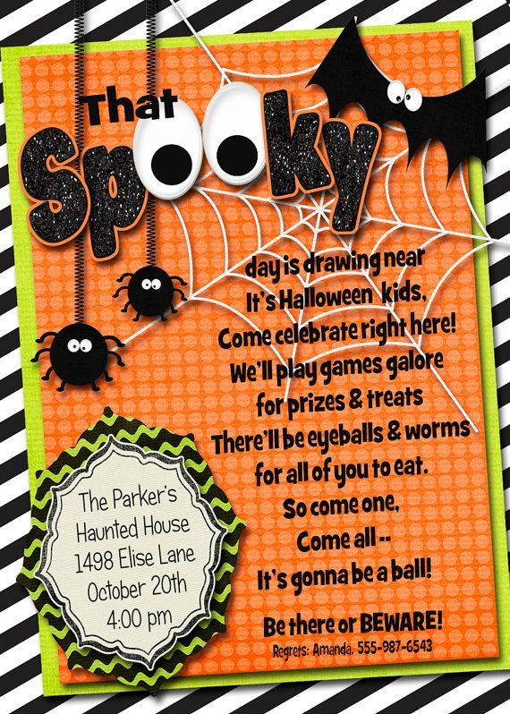 lots of spooky Halloween invitation wording samples and ideas to ...