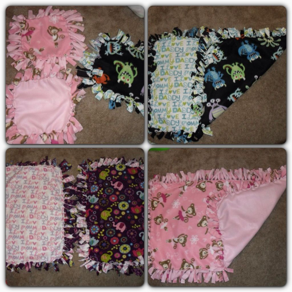 Tie Blankets (tagalongs, toddler, and infant size) Baby
