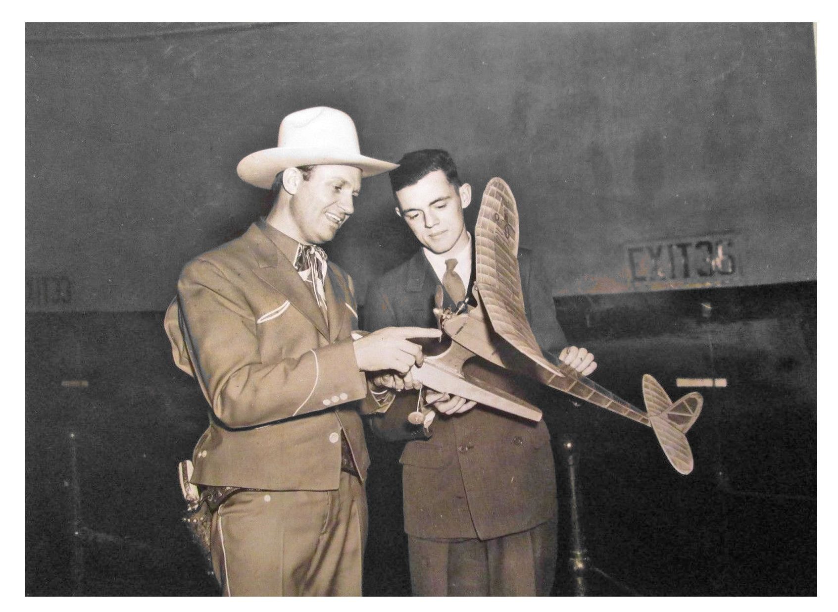 1950's Cowboy With Model Airplane