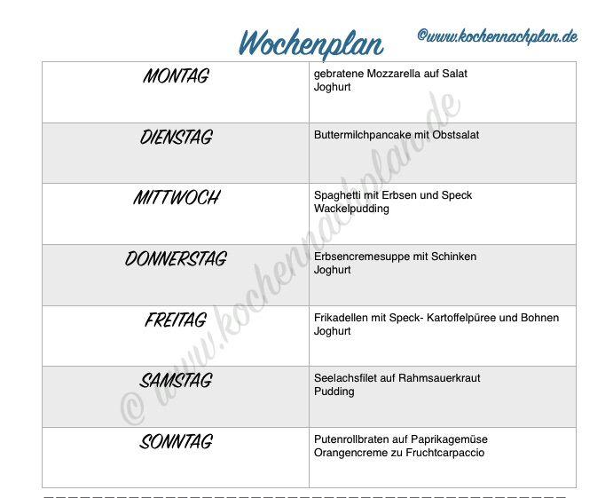 kochennachplan.de : Wochenplan Woche 2- 2016