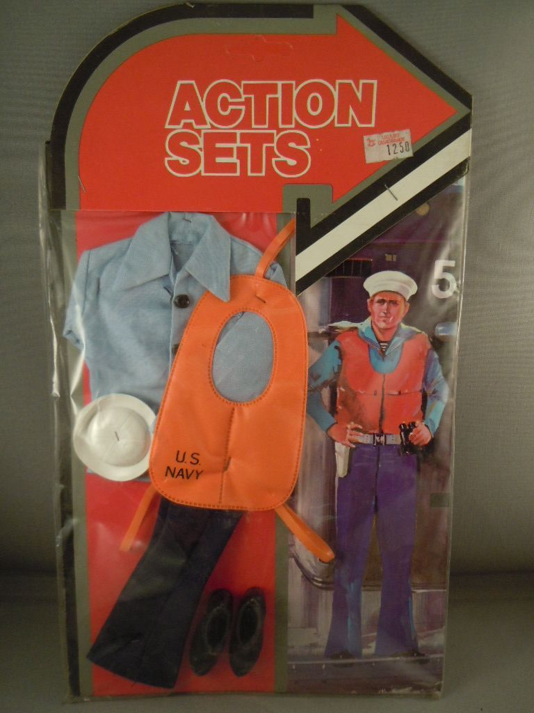 Nice 1970s Hong Kong made German Action Sets US Navy sailor set.