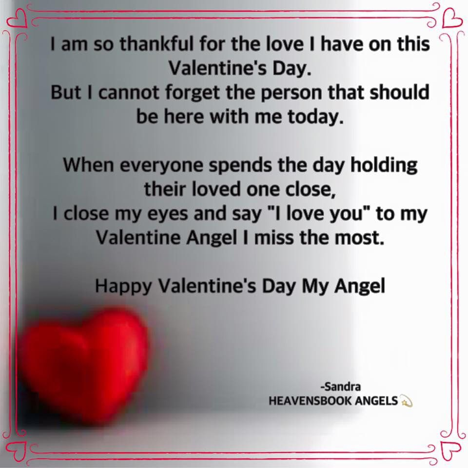 Valentine's Day Angel My Quotes #griefandloss #grief