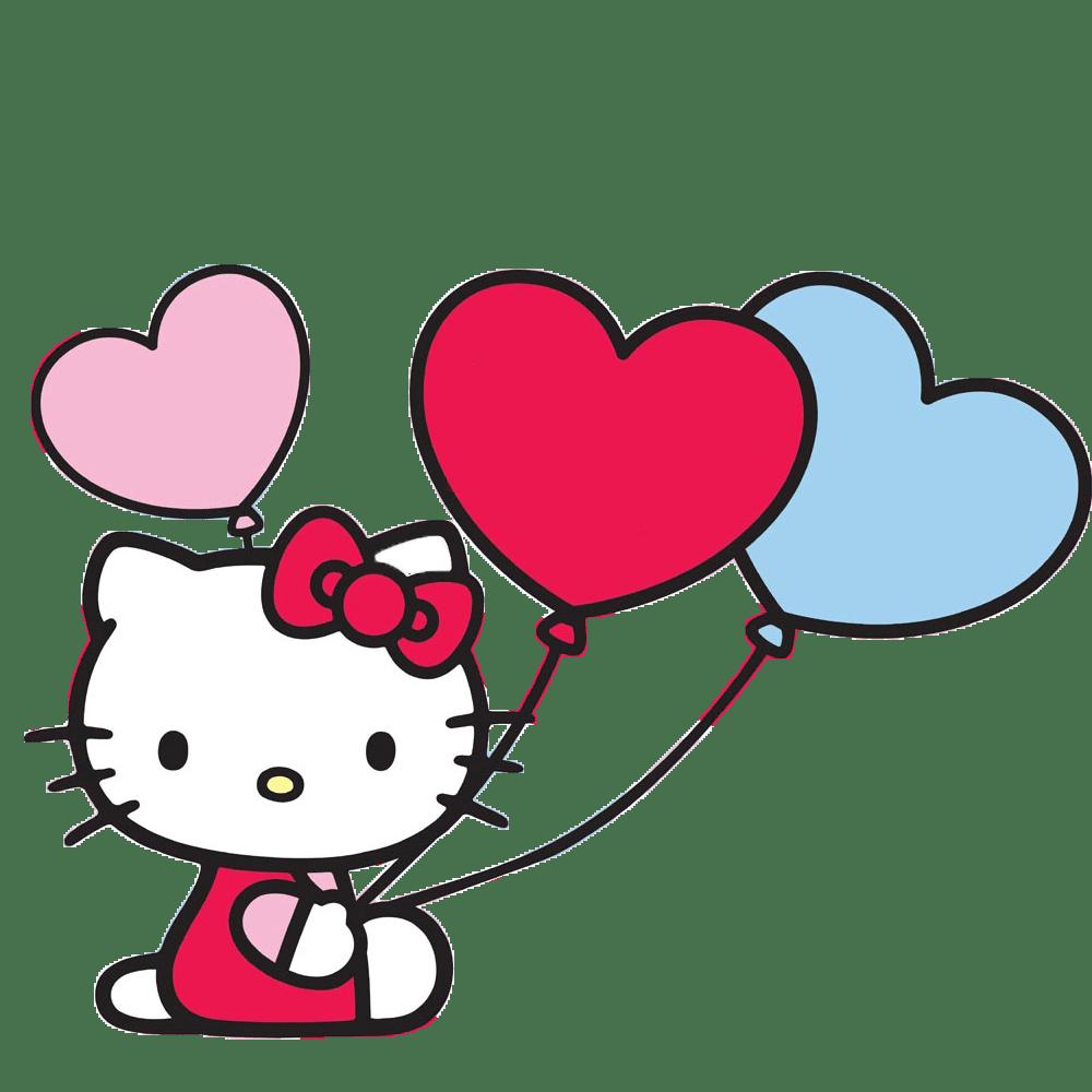 Hello Kitty With Balloons Hello Kitty Art Hello Kitty Coloring Hello Kitty Images