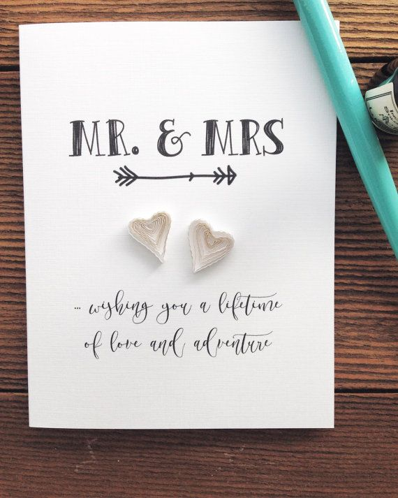 Engagement or Anniversary card Mr and Mr Wedding
