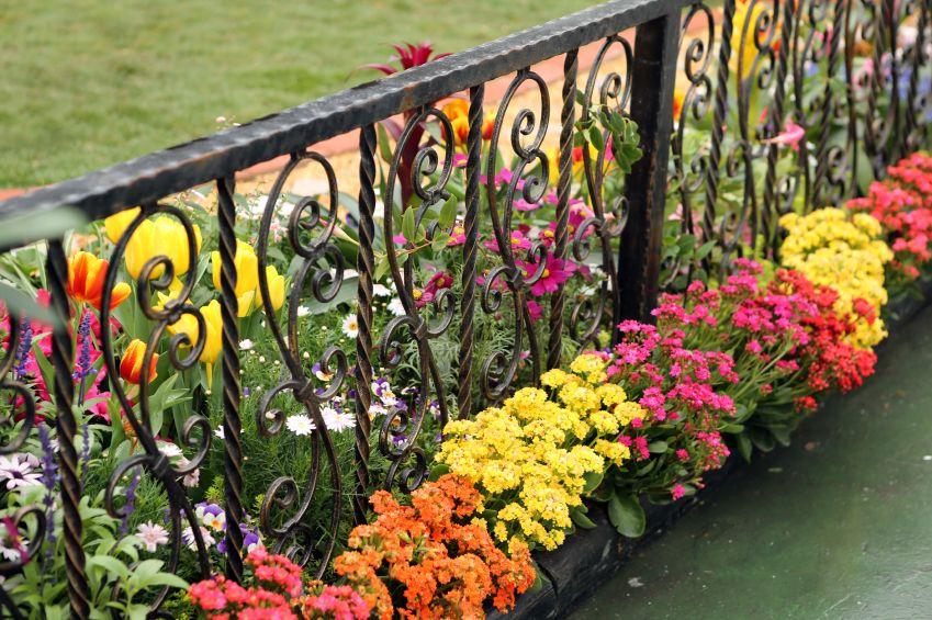40 Beautiful Garden Fence Ideas Wrought Iron Fences Iron Fence Garden Fencing