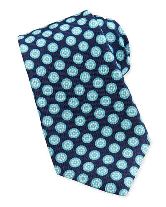 d7a85202 Round-Floral Silk Tie Aqua   The Art of Gifting   Silk ties, Tie, Silk