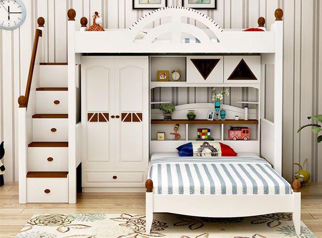 Giường tầng da năng kết hợp tủ quần áo bàn học   Giường tầng, Giường, Phòng  ngủ
