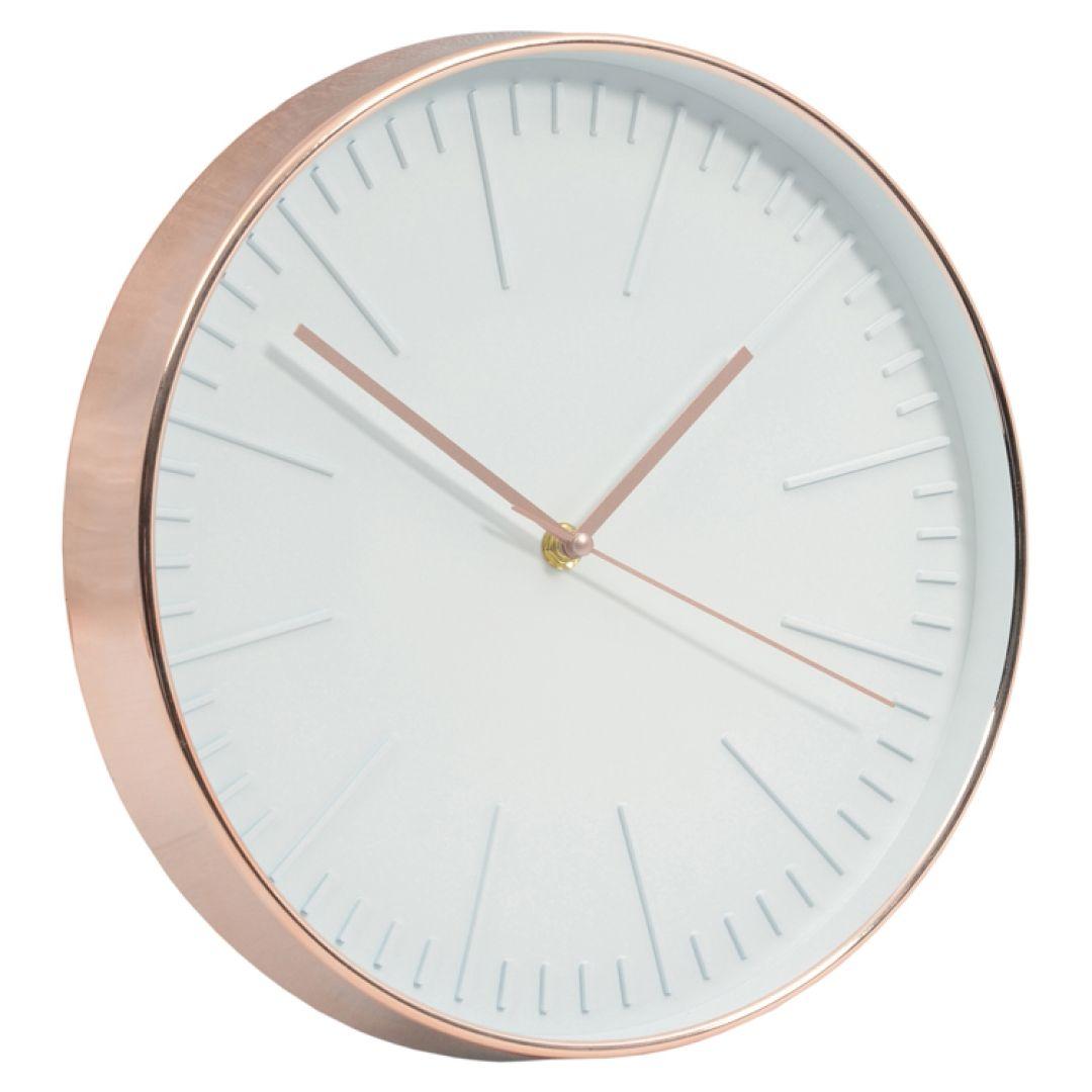 Juana Tate Analogue Clock Copper White Face Clock Wall Clock Modern Analog Clock