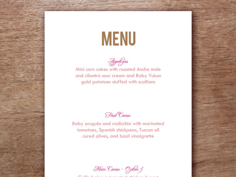 Online Menu Maker - Quick and Free!   PosterMyWall