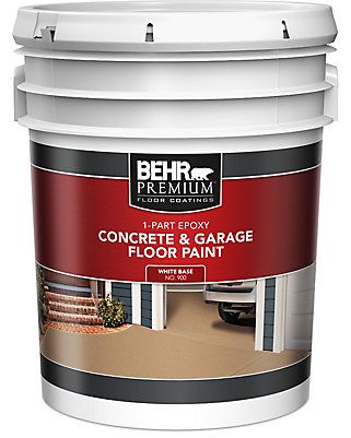 A High Performance Ready To Use Water Based Floor Paint That Resists Hot Tire Pick Up And Marring The Finish Painted Floors Garage Floor Paint Garage Floor