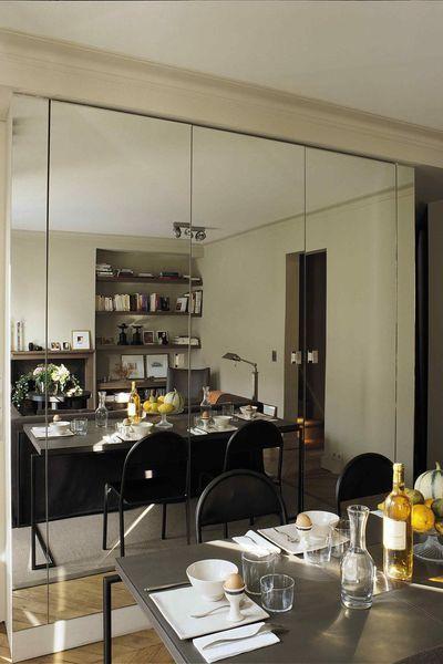 La salle à manger d\u0027un petit duplex parisien Miroir Pinterest